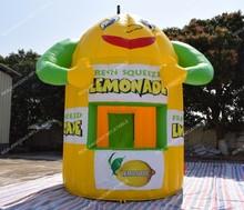 """Nemokamas pristatymas """"Smiling Face Inflatable Lemonade Booth"""" kioskas pardavimui (nemokami baneriai ir CE arba UL sertifikuotas pūstuvas)"""