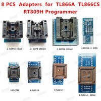 8 PCS Programmer Adapters Socket Kit SOP8 SOP16 PLCC32 PLCC44 Adapter For TL866CS TL866A EZP2010 RT809H