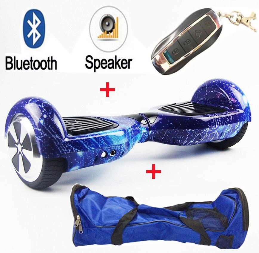 Maoboos bluetooth + saco remoto 6.5 polegada auto equilíbrio scooter elétrico 2 rodas skate elétrico monociclo hover board