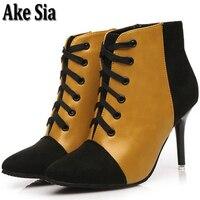 Ake Sia TOP Graceful Sexy Style Autumn Winter Korean Stiletto Women Warm Snow Bottine Martin Boot