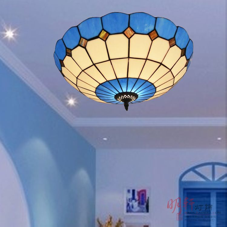 New simple modern study room bedroom dining room living room dining room Mediterranean style blue glass ceiling lampsNew simple modern study room bedroom dining room living room dining room Mediterranean style blue glass ceiling lamps