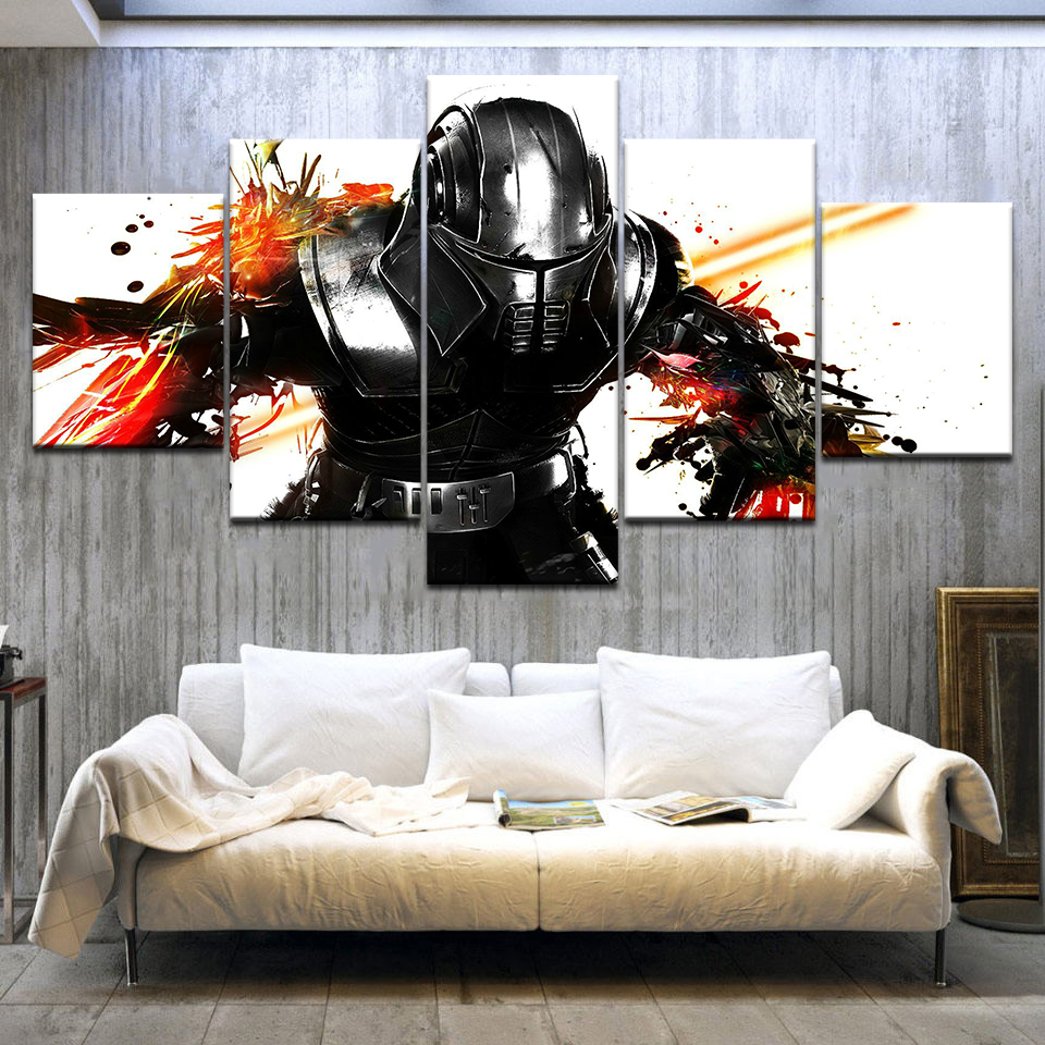 5 Panel HD Print Star Wars: The Force Unleashed game wall posters Canvas Art Painting For home living room decoration
