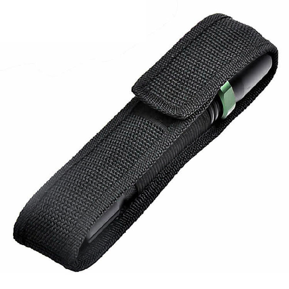 1pcs Durable Nylon Flashlight Holster Clip-On Torch Light Holder Belt Pouch Case