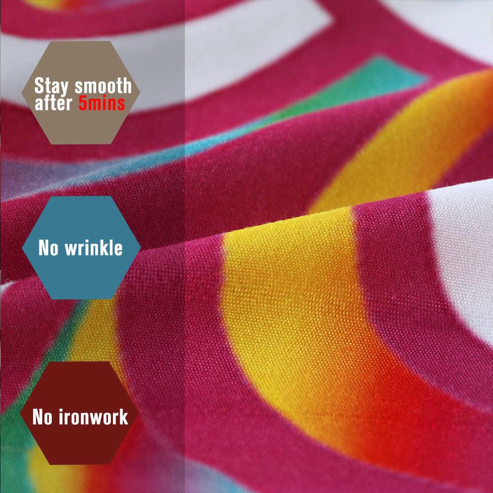 Постельные принадлежности, постельное белье в стиле мандала, набор разноцветных цветов, пододеяльник, богемное постельное белье с принтом, домашний текстиль для девочек, радужная постельное белье, 3 предмета