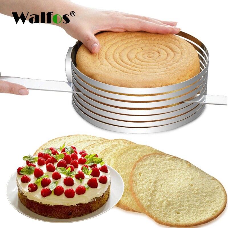 WALFOS Neue Versenkbare Edelstahl Kuchen Design Kreis Mousse Ring Backen  Werkzeug Kuchen Form Form Kuchen Pan Einstellbare Kuchen Werkzeuge