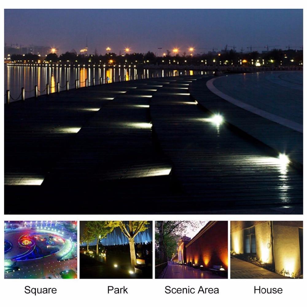 Lâmpadas Solares ground luz movido a energia Led Light : Solar Powered Ground Light