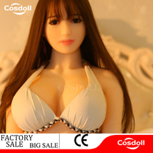 Cosdoll 140cm Lifelike Real Asia Sex Doll, Full Size Silicone with Metal Skeleton Love Doll,Oral Vagina Pussy Anal Dolls for Men
