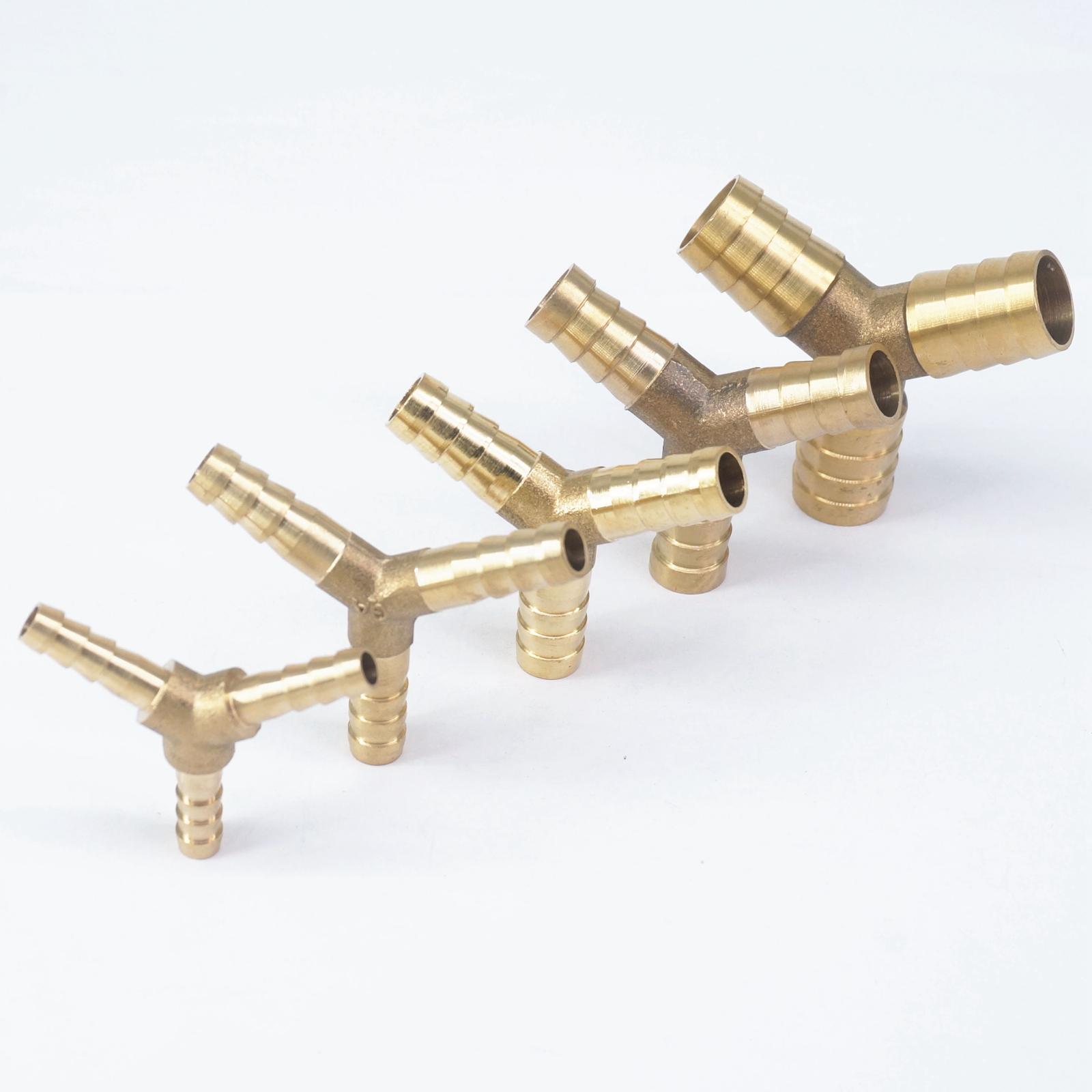Rohre & Armaturen Lot 2 Y Schlauch Barb I/d 4mm 6mm 7mm 8mm 10mm 12mm 14mm 16mm 3 Möglichkeiten Messing Koppler Splicer Anschluss Armaturen