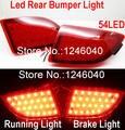 Lente vermelha pára-choques Traseiro refletor luz 54LED luz da cauda parada freio lâmpada nevoeiro para mazda3 hatchback skyactive Mazda3 Axela 2013 ~