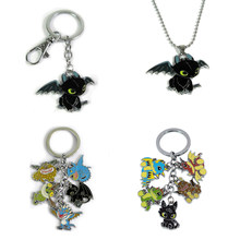 How to Train Your Dragon toys action figures toys keychain pendant Cute Toothless alloy model Necklace keyring for kids toys(China)