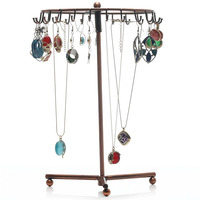 Free Shipping Wholesale 23 Hook Necklace Bracelet Jewelry Display Holder Organizer Stand