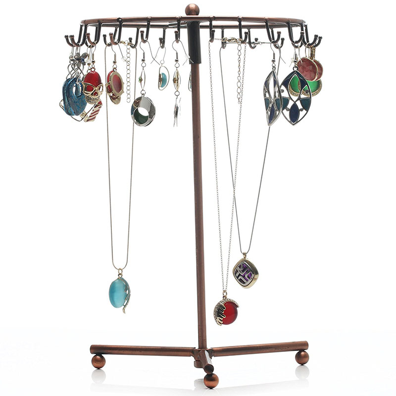 free shipping 23 hooks Rotating Jewelry Holder Stand Display Organizer for Earrings Necklaces Bracelets Rack Holder 1 cutting blade holder for graphtec cb09 silhouette cameo holder 15pcs blades vinyl cutter plotter 30 degree free shipping