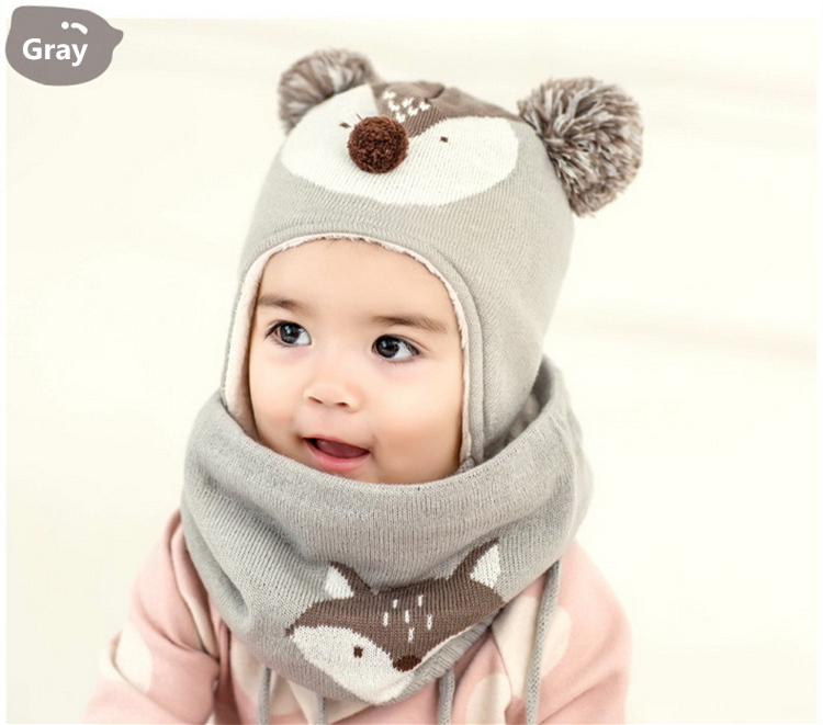 ab288736e Kocotree 2pcs Lot Children Winter Hat And Scarf Autumn Kids Boys ...