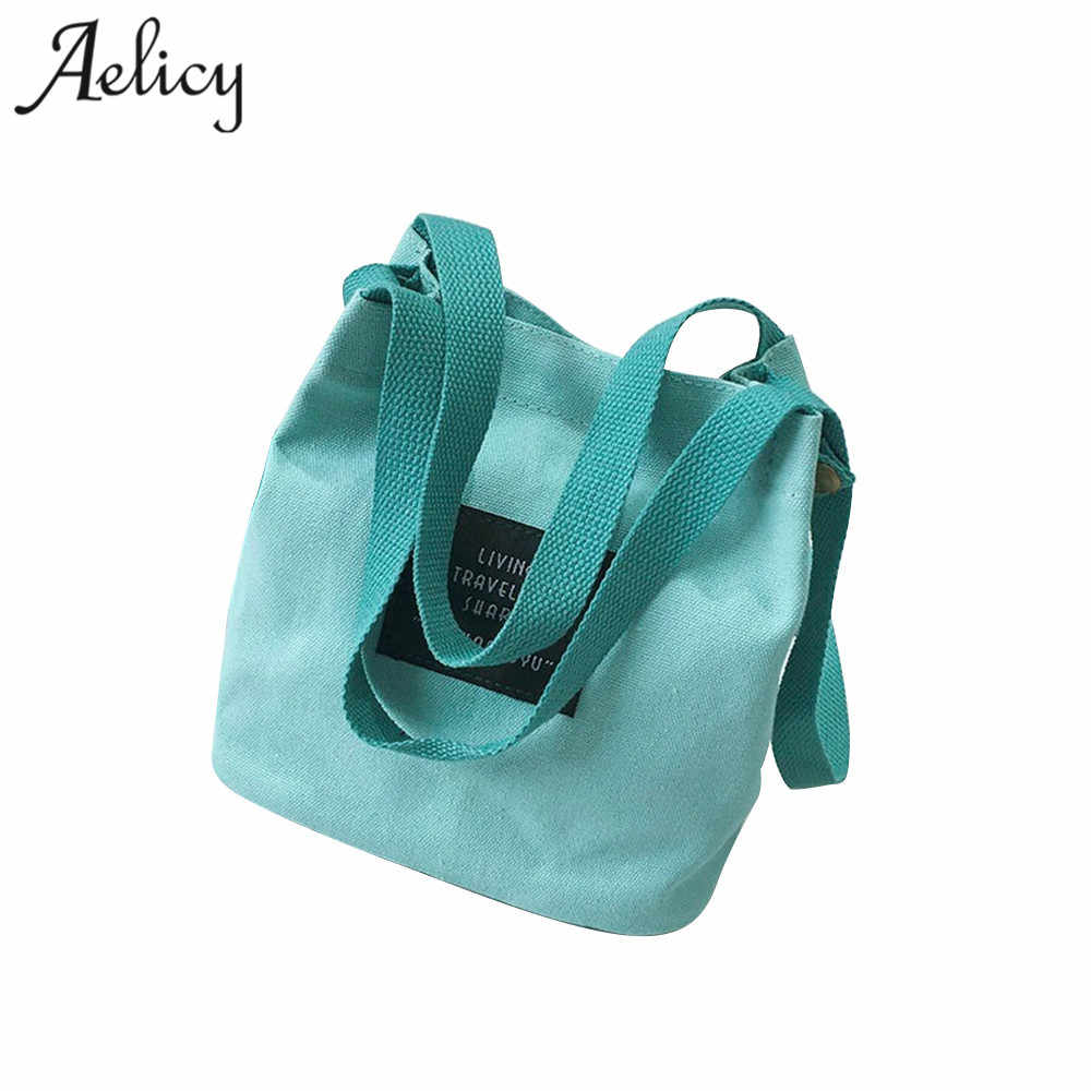 960dec5f85e1 Aelicy Women Mini Canvas Handbag Single Shoulder Bag Crossbody Messenger  Bag Lady Swagger Bag Female Shopping Bags Bucket Pack