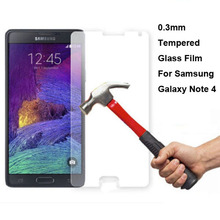 New Genuine Explosion Proof Tempered Glass Protective Film Screen Protector for Samsung Galaxy Note 4 N9100 Note IV