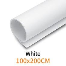 """Blanc 100 cm * 200 cm 39 """"* 79"""" blanc sans couture imperméable à leau PVC toile de fond papier pour Photo vidéo photographie Studio"""