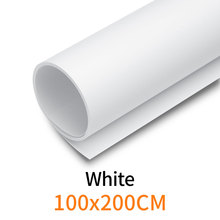 """Branco 100 cm * 200 cm 39 """"* 79"""" Água à prova de PVC Pano de Fundo Papel De Fundo Sem Emenda Branco para Foto Estúdio De Fotografia de Vídeo"""