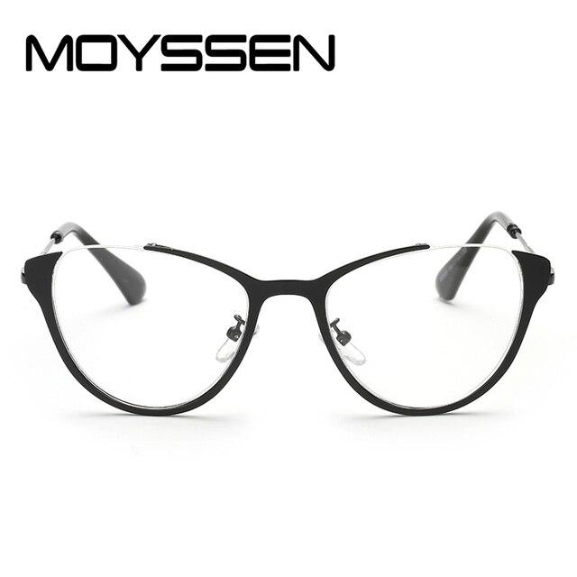 21b1e54b0b MOYSSEN Fashion Women Decoration Cat eye Optical Glasses Frame Prescription  Eyeglasses Metal Alloy Chic Optical Eyewear