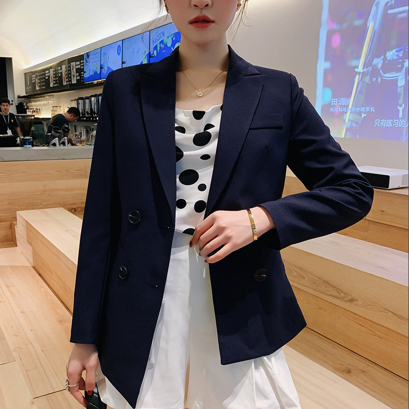 Ladies Suit Jacket New Autumn Version Slim Large Size Long Sleeve Small Suit Jacket Female Fashion Casual Suit 2019
