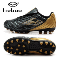TIEBAO Professional Botas De Futbol Children Football Shoes Boys Training Soccer Cleats Black Boots AG Soles Outdoor Sneakers