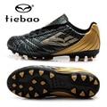 TIEBAO Professional Botas De Futbol Children Football Shoes Boys Training Soccer Cleats Black Boots AG Soles Outdoor Sneakers