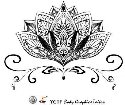 environmental women men sexy waterproof arm hand temporary tattoo sanskrit lotus designs spray fake transfer tattoo stickers in temporary tattoos from