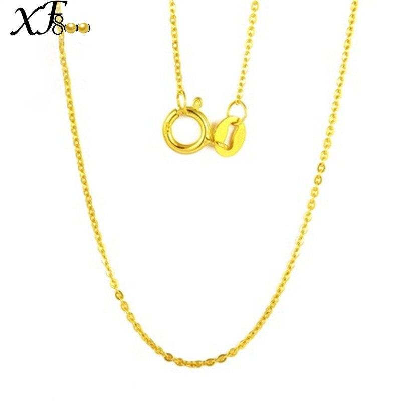 XF800 Genuino 18 k Oro Collana Belle Jewlery Reale Au750 Bianco Catena In Oro Giallo Regalo di Festa di Nozze Romantico Per Le donne ragazza D206