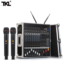 цены TKL PH2400 Power Amplifier Mixer Unit 8 Channel 1200W Professional Stage Performance Airbox Wireless Microphone Set