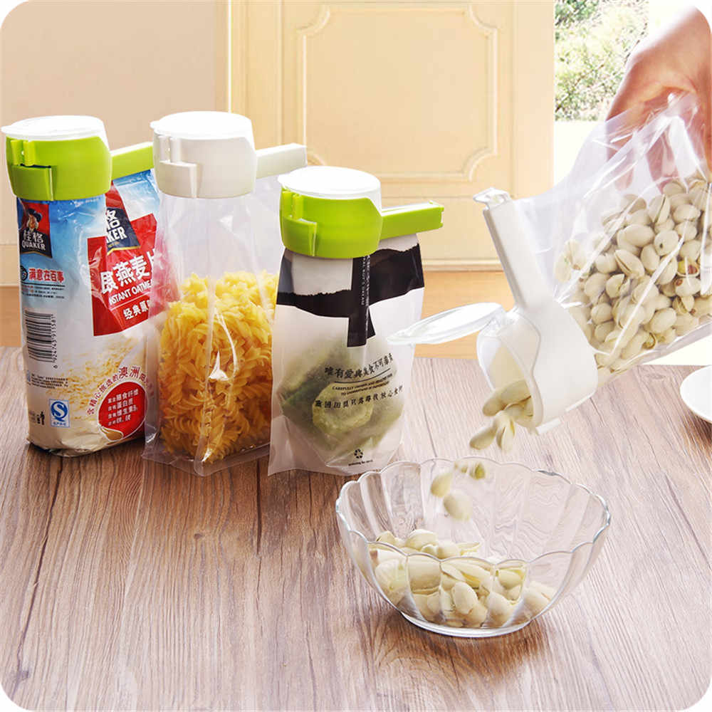 Food Clamp Plastic Package Bag Sealer Seal Pour Food Storage Bag Clips Snack Moisture-proof Sealing Clip Kitchen Accessories