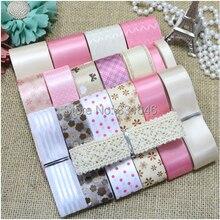 18 YARDS Diy kind haarbögen zubehör rosa serie Polyester rippe band grosgrain/satin gedruckt erwachsenen band Set Hochzeit Decor