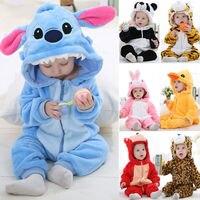 Soft Unisex Baby Toddlers Pajamas Kigurumi Cartoon Animal Cosplay Onesie Costume Romper Sleepwear Boys Girls New