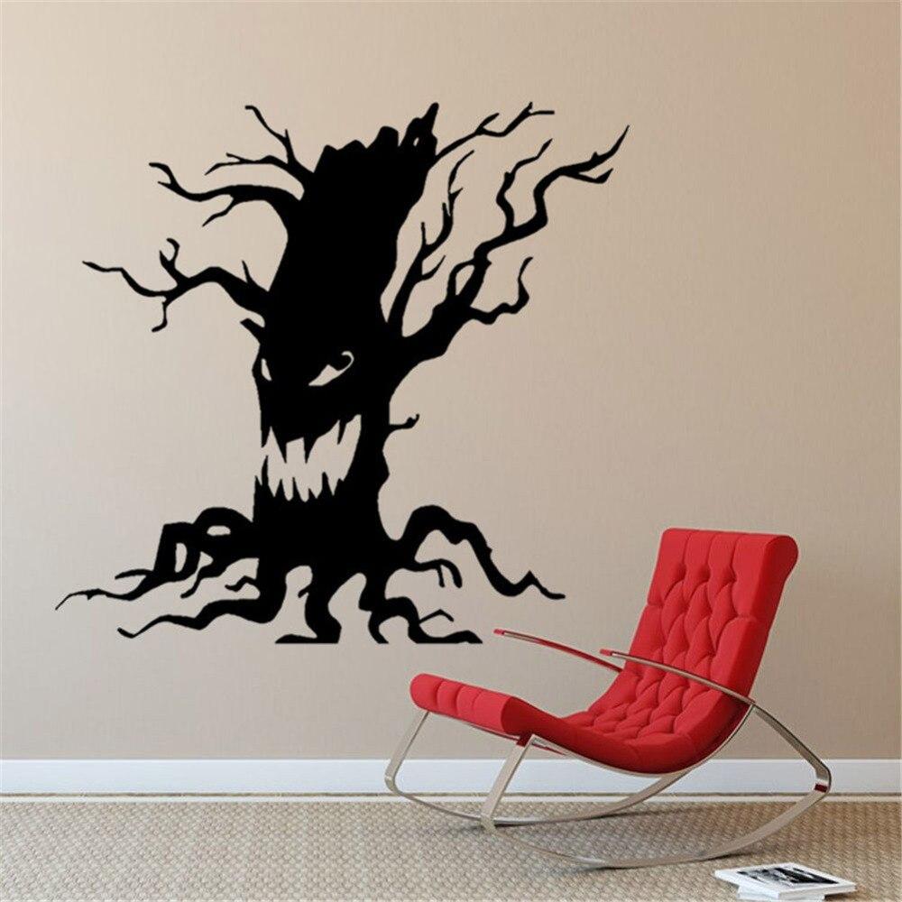 Creepy Tree Halloween Decoration Scary Vinyl Decal Sticker Car Window WallArt