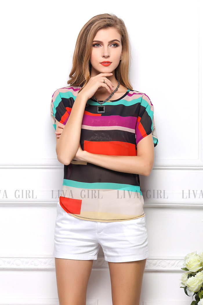 Hot sale summer women free shipping tops fashion f...