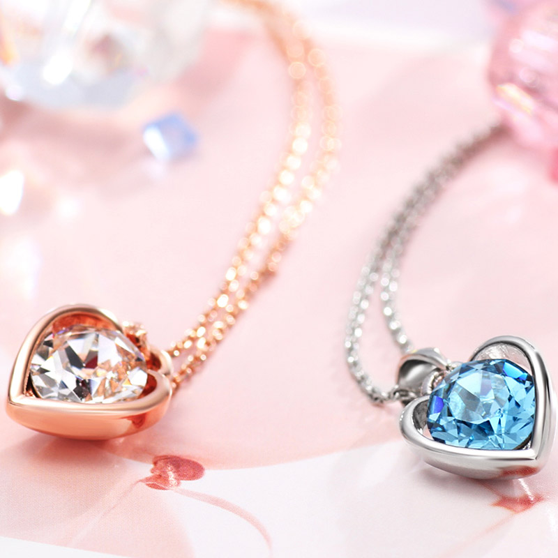 Neoglory Blue Heart Love Gifts Chokers Necklaces & Pendants For ...