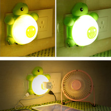 Hot!  Cute Turtle LED Night Light with Light Sensor & Dual USB Wall Plate Charger  for Bedrooms Child Gift luz de la noche LN003