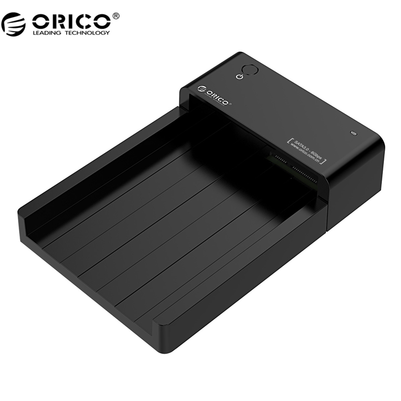 все цены на  ORICO 6518US3 Super Speed USB 3.0 HDD Hard Drive & SSD Docking Station for 2.5 -inch & 3.5 - inch SATA Support 4TB HDD-Black  онлайн
