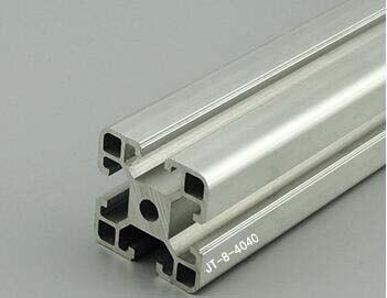 Profil en aluminium adapté aux besoins du client d'extrusion de 4040, coupe libre dans n'importe quelle longueur, couleur argentée