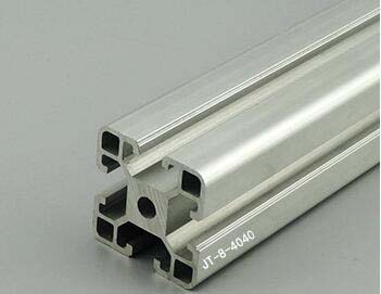 Customized 4040 Aluminum Extrusion Profile,Free Cutting In Any Length,Silvery Color