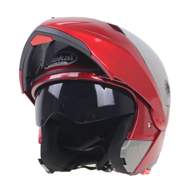 2016 Nieuwe Collectie Motorhelmen Klap helm op met zonneklep voor - Motoraccessoires en onderdelen - Foto 6