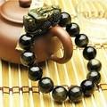 Фэн-шуй богатство Pixiu браслет лаки браслет Obsidain из бисера ювелирные изделия богатство Piyao браслет