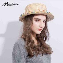 Al por mayor Sun sombrero de paja plana sombrero canotier chicas franjadas  borla colorido sombreros de verano para las mujeres p. 398c763734d4