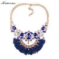 Miwens 2017 Popular Simple Design Fashion Generous Multi Color Ladies Tassel Necklace Pendant Retro Collar Necklace