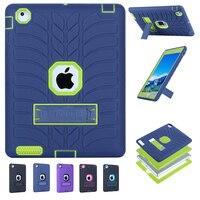2017 Новый Малыш Case для iPad 2 4 3 Шин Pattern Гибридный стенд Держатель Пластиковой + Прочный Защитный Case Cover for ipad 2/3/4 Coque
