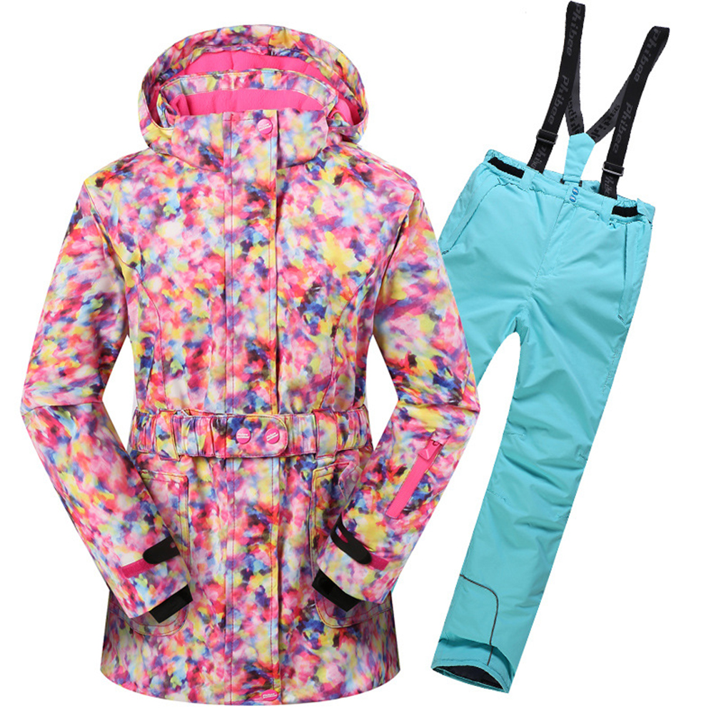 4e07c40fa9 new Children Winter Outdoor Sport Waterproof Skiing Sets Girls Snow  Snowboarding Snowboard Suits Kids Windproof Ski Jacket Pants-in Skiing  Jackets from ...