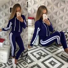 ZOGAA Womens Casual Tracksuit Two Piece Set Slim Fit Sportswear 2 Sport Suit Hooded Sweatshirts Long Pants