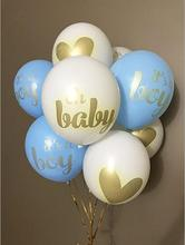 10pcs/lot baby shower children birthday balloons its a boy girl oh printed babyshower decorations party supply