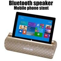 Tablet e telefono staffa altoparlante bluetooth Subwoofer mini MP3 portatile Paly con TF USB AUX per xiaomi iphone di sostegno dell'altoparlante