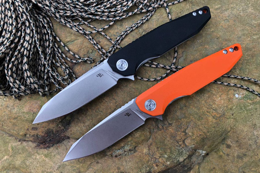 CH brand folding knife D2 stainess satin blade tactical survival knives gears for hunting camping Ch3004G10 Model 2 Colors quality tactical folding knife d2 blade g10 steel handle ball bearing flipper camping survival knife pocket knife tools
