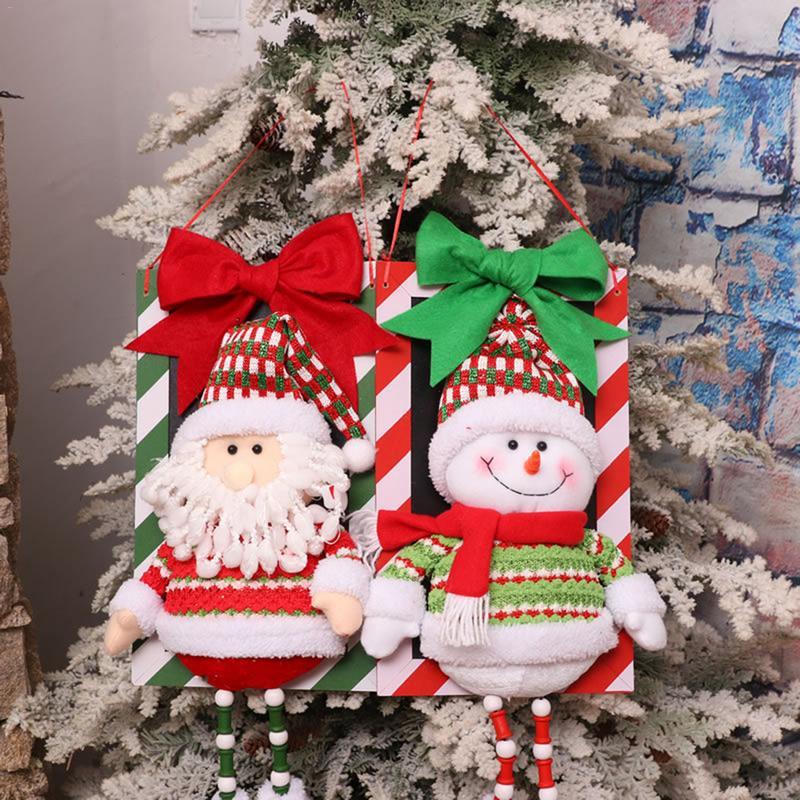 2018 Santa Snowman Pendant Christmas Decorations Christmas Window Ornaments Outdoor Indoor Decorative Signs Home Decoration