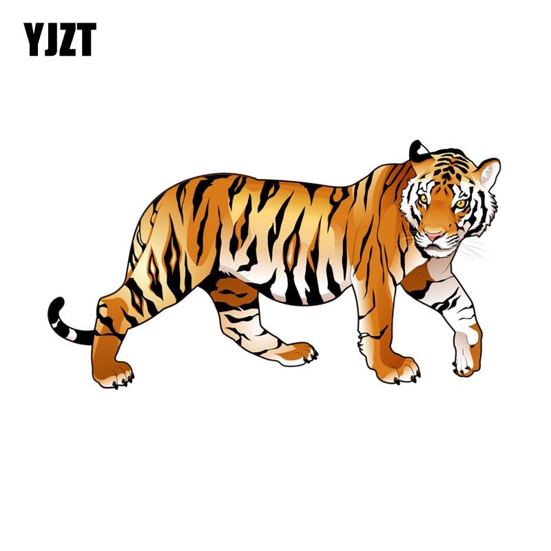 Yjzt 14 7cm 7 9cm Cartoon Walking Tiger Decal Pvc Motorcycle Car Sticker 11 00647 Car Stickers Aliexpress